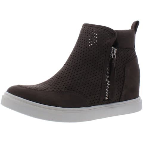 Madden Girl Womens Perfekt Fashion Sneakers Perforated High Top