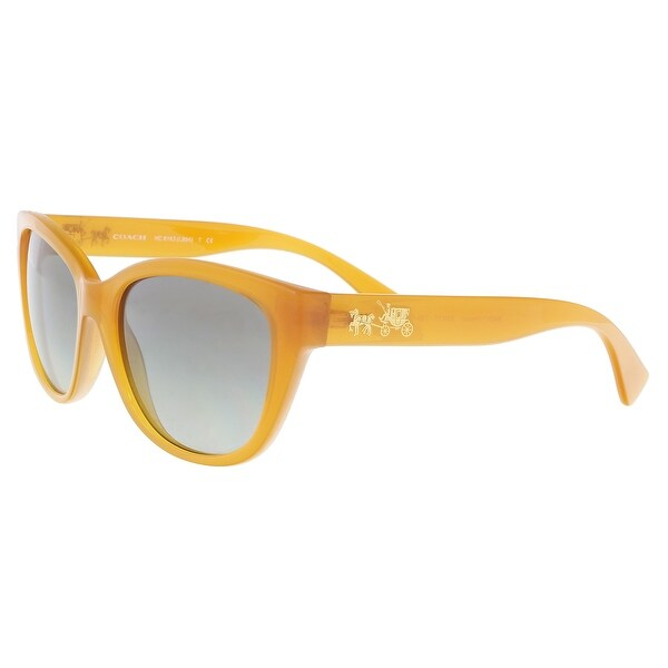51ad1318d2 Shop Coach HC8163 546311 Amber Cat Eye Sunglasses - 55-17-135 - Free ...
