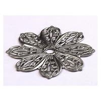 Cal Crystal 24BP 1-3/4� Flower Design Knob Backplate from the Crystal Collection - n/a