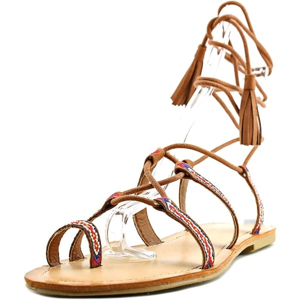 Madden Girl Saz Women Open Toe Canvas Brown Gladiator Sandal