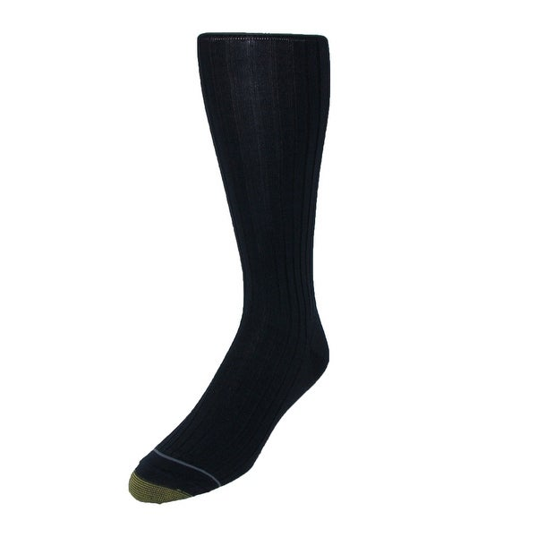 Gold Toe Men's Mercerized Cotton Over the Calf Dress Socks (Pack of 3), Shoe Size 6 - 12 1/2