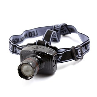 Unique Bargains Elastic Strap Focus Adjustable White SMD LED Flashlight Torch Headlight 3W