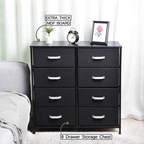 Fabric 8-drawer Storage Organizer Double Dresser