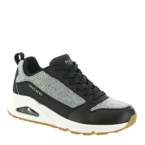 Skechers Women's UNO-Sparkle Motion Sneaker, Black