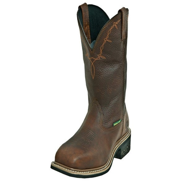 John Deere Work Boots Mens Leather Steel Toe MET Copper Kettle