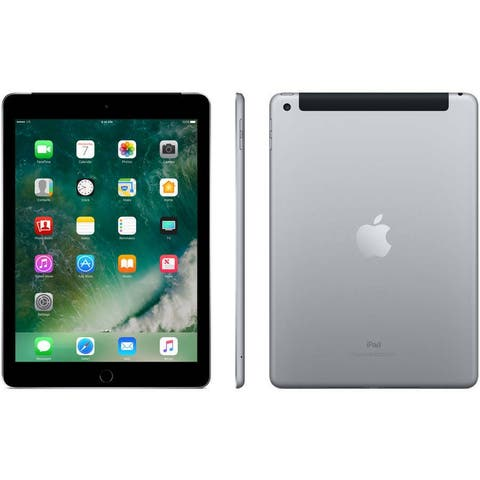 Apple - iPad (5th generation) with WiFi + Cellular- 32GB- Space Gray Certified Refurbished