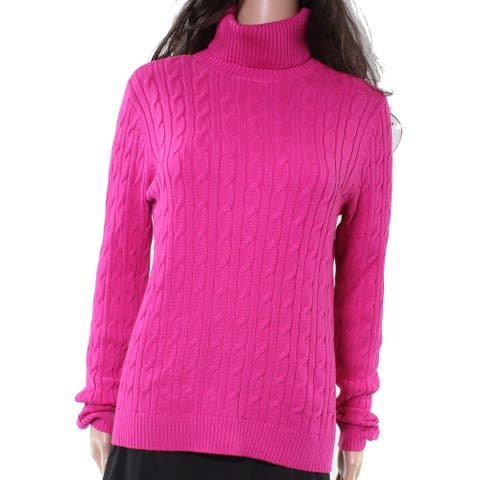Charter Club Womens Sweater Pink Size Small S Pullover Cable-Knit