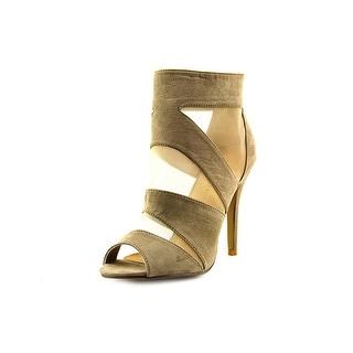 Chinese Laundry Jasper Women Peep-Toe Synthetic Gray Heels