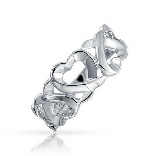 Bling Jewelry Sterling Silver Triple Loving Heart Ring