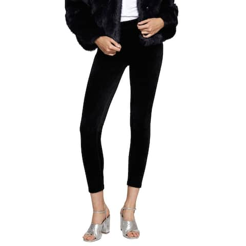 Sanctuary Black Womens Size XS Pull-On Velour Grease Leggings
