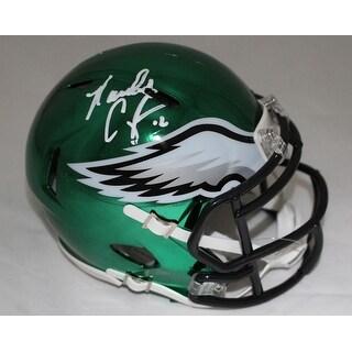 Randall Cunningham Autographed Philadelphia Eagles Chrome Mini Helmet BAS