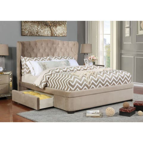 Copper Grove Antratsyt Tufted Taupe Storage Bed