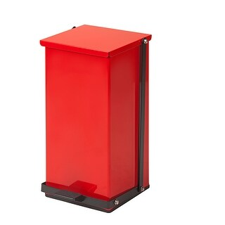 Clinton 32 Quart Premium Red Waste Receptacle -Step-on Hands Free
