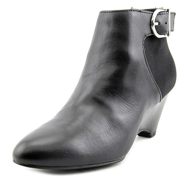 Alfani Ulrika Round Toe Leather Bootie