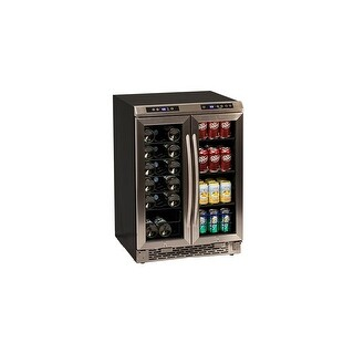 Avanti WBV19DZ 24 Inch Wide Built-In French Door Wine and Beverage Cooler - STAINLESS STEEL - N/A