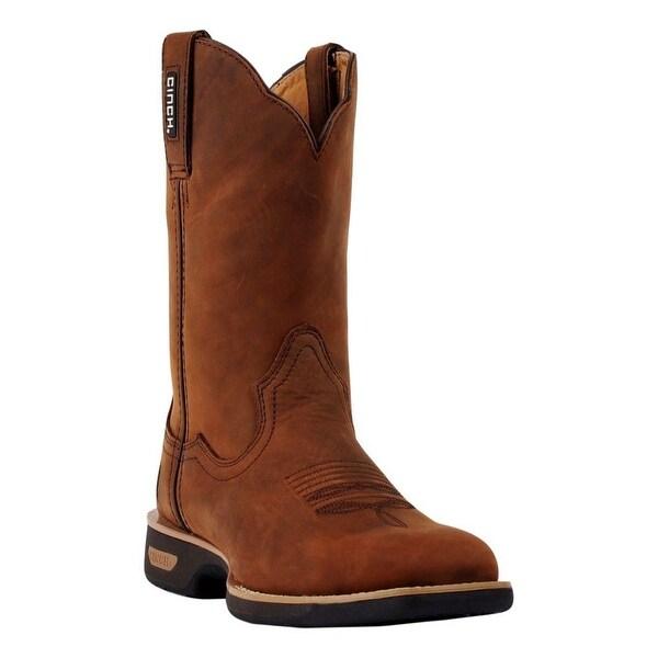 Cinch Work Boots Mens WRX Legend Pigskin Lining Crazy Horse
