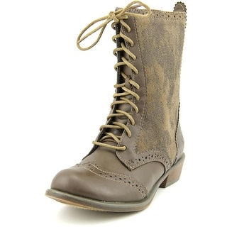 Dirty Laundry Paxton Round Toe Canvas Mid Calf Boot