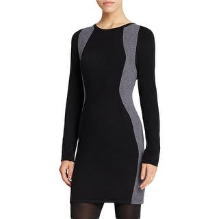 Aqua Womens Sweaterdress Wool Colorblock - m|https://ak1.ostkcdn.com/images/products/is/images/direct/884827e5294730824842d1f2bffe3a4003261212/Aqua-Womens-Sweaterdress-Wool-Colorblock.jpg?impolicy=medium