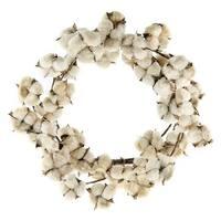 """Teastain Cotton Wreath, 22"""""""