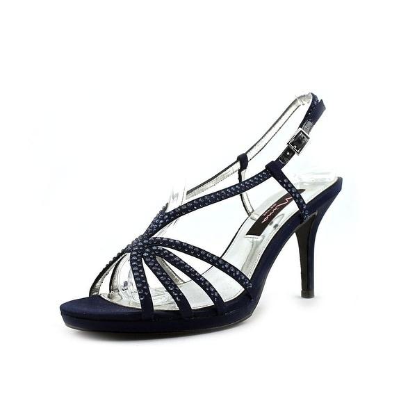 Nina Bobbie Women Open Toe Canvas Blue Sandals