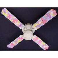 Children's Care Bears 42in Ceiling Fan Light Kit - Multi
