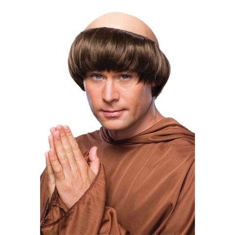 Forum Novelties Monk Wig (Brown) - Brown