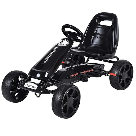 Costway Xmas Gift Go Kart Kids Ride On Car Pedal Powered Car 4 Wheel