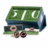 Chicago Bears Cufflinks, Money Clip and Tie Bar Gift Set NFL - Silver