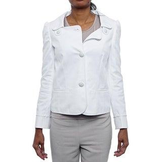 Red Valentino Royal Open Collar acket Basic Jacket White