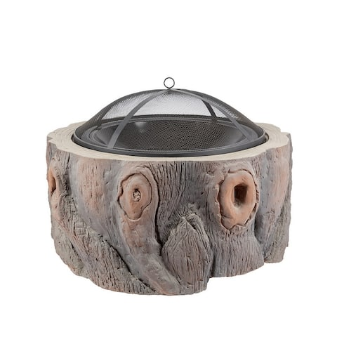 Outdoor Steel Wood Burning Fire Pit Burning with Spark Screen Cover