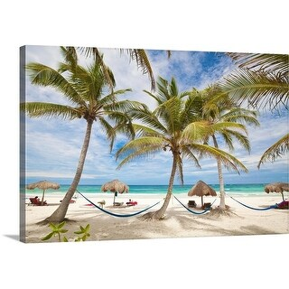 Premium Thick-Wrap Canvas entitled Vacation beach