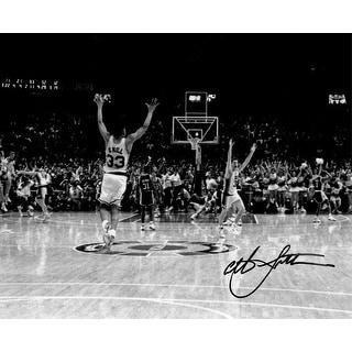 Christian Laettner Signed Duke Blue Devils B&W 'The Shot' Celebration vs Kentucky 8x10 Photo