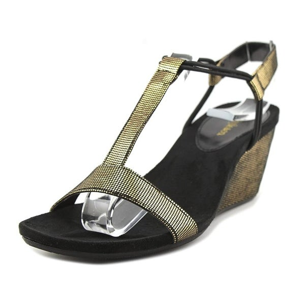 Style & Co Mulan Women Black/Gold Sandals