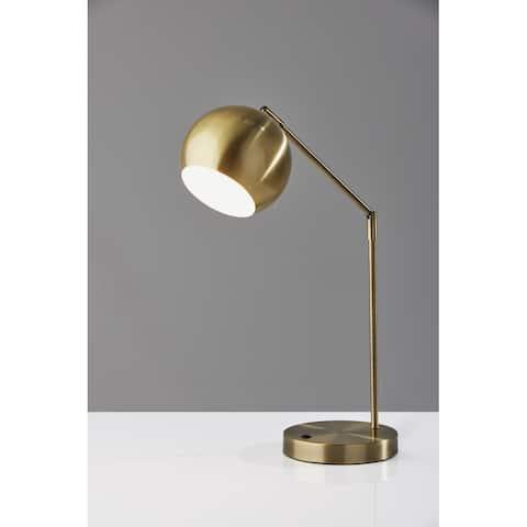 Adesso Ashbury Antique Brass Desk Lamp