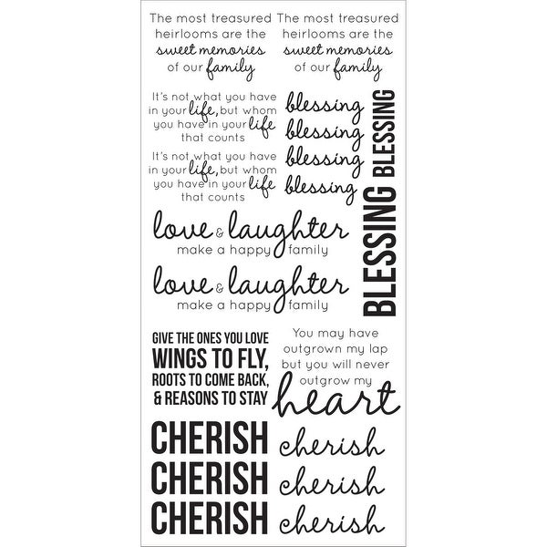 "Clear Stickers 5.75""X12""-Family"