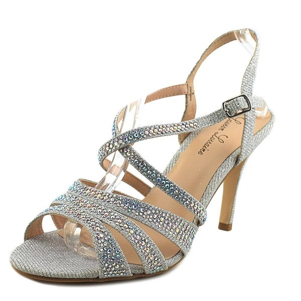 Lauren Lorraine Nadine Women Open Toe Synthetic Silver Sandals