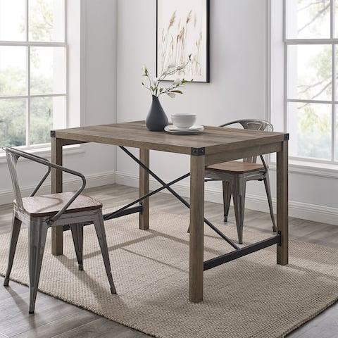 The Gray Barn Kujawa Metal X Accent Dining Table