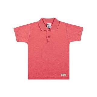Toddler Boy Polo Style Shirt Little Boys Basic Tee Pulla Bulla Sizes 1-3 Years