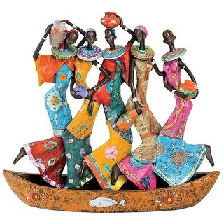 Design Toscano The Maiden Water Carriers of Ghana Sculpture