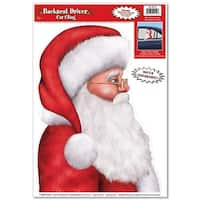 Pack of 12 Festive Santa Backseat Driver Car Cling Christmas Decorations 17""