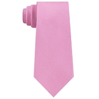 Tommy Hilfiger TH Flex Men's Sporty Micro Grid Dot Silk Tie Pink Necktie