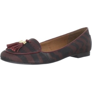 DV By Dolce Vita Womens Delphi Striped Patent Trim Loafers