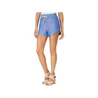 Kensie Womens Casual Shorts Drawstring Front Pockets