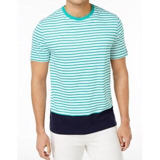 Tommy Hilfiger NEW Green Mens Size 3XL Crewneck Striped Tee T-Shirt