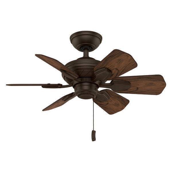 """Casablanca 31"""" Wailea Outdoor Ceiling Fan with Pull Chain, Damp Rated. Opens flyout."""