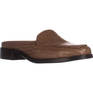 Aerosoles Best Wishes Flat Comfort Mules, Tan Croco