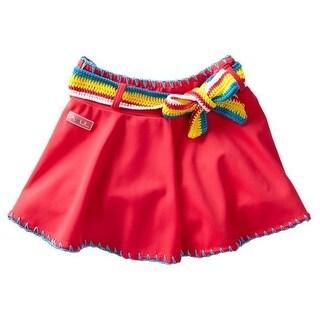 Azul Girls Pink Hippie Hippie Shake Crochet Detail Swim Skirt