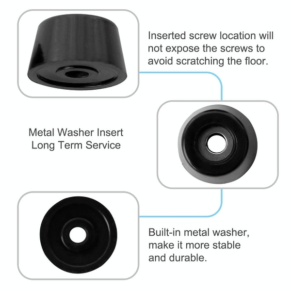"""Set of 24 Amp//Cabinet Rubber Feet 1 1//2/"""" X 3//4/"""" screws,metal washers built-in"""