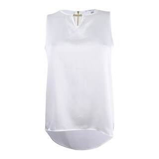 Calvin Klein Women's Petite High-low Tank Top - CREAM