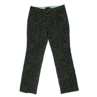 Rochas Womens Metallic Jacquard Pants